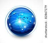 concept internet communication | Shutterstock .eps vector #82867279