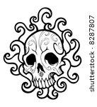swirled skull vector   Shutterstock .eps vector #8287807