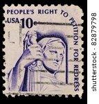 Usa   Circa 1977  A Stamp...
