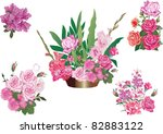 illustration with five pink... | Shutterstock .eps vector #82883122