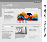 gray website template 960 grid   Shutterstock .eps vector #82890223
