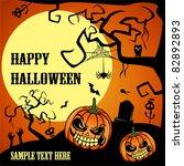 happy halloween | Shutterstock .eps vector #82892893