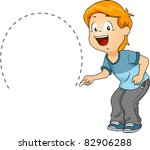 illustration of a kid drawing a ... | Shutterstock .eps vector #82906288