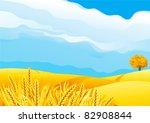 grain fields. fall landscape of ...