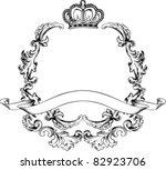 illustration luxury vintage... | Shutterstock .eps vector #82923706