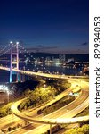 highway bridge at night in hong ... | Shutterstock . vector #82934053