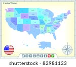 united states map with flag... | Shutterstock .eps vector #82981123