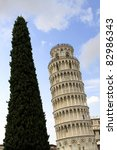 leaning tower of pisa  italy ... | Shutterstock . vector #82986343