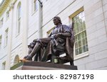 John Harvard Statue In Front Of ...