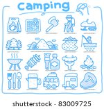 web icons picnic   camping ...
