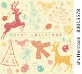 card with christmas deer | Shutterstock .eps vector #83015578