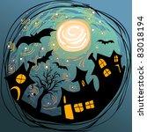 halloween illustration with... | Shutterstock .eps vector #83018194