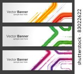 abstract trendy vector banner... | Shutterstock .eps vector #83022622