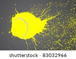 vector illustration  tennis... | Shutterstock .eps vector #83032966