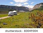rvs in wilderness | Shutterstock . vector #83049304