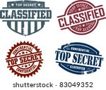 Vintage Top Secret Collection - stock vector