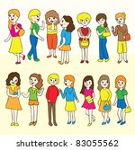 group of women icon gather | Shutterstock .eps vector #83055562