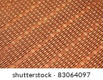closeup of pictures   bamboo mat | Shutterstock . vector #83064097