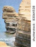 cliff - stock photo