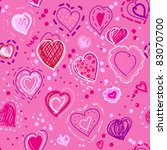 lovely hearts seamless pattern... | Shutterstock .eps vector #83070700