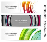 abstract trendy vector banner... | Shutterstock .eps vector #83073388