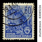 germany circa 1953 a stamp... | Shutterstock . vector #83085226