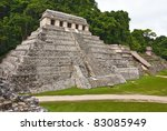 the big pyramid in palenque ... | Shutterstock . vector #83085949