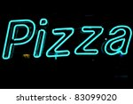 neon shining signboard with... | Shutterstock . vector #83099020