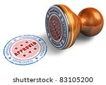 approved stamp isolated on... | Shutterstock . vector #83105200