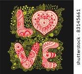 "the word ""love"".romantic... | Shutterstock .eps vector #83145661"