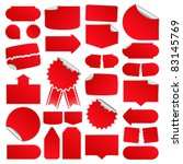red price tags | Shutterstock . vector #83145769