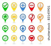map markers with icons | Shutterstock .eps vector #83145901