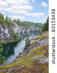 marble canyon in karelia | Shutterstock . vector #83153458