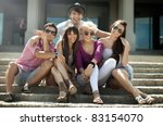 group of friends on vacation | Shutterstock . vector #83154070