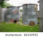 Old Industrial Rusty Tanks For...