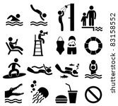 Man People Swimming Pool Sea...