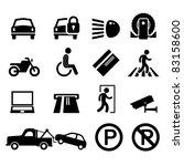 car park parking area sign...   Shutterstock .eps vector #83158600