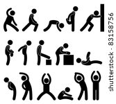 Man People Athletic Exercise...