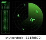 radar screen.vector... | Shutterstock .eps vector #83158870