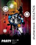 music event background. vector... | Shutterstock .eps vector #83167426