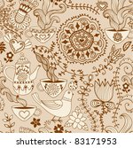 retro coffee seamless pattern ... | Shutterstock .eps vector #83171953