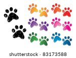 paw print collection | Shutterstock .eps vector #83173588