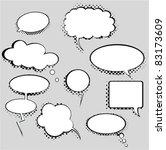 bubbles set | Shutterstock .eps vector #83173609