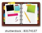 personal organizer | Shutterstock .eps vector #83174137