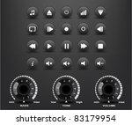 black round media player... | Shutterstock .eps vector #83179954