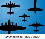 Formation Of American Bombers...