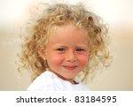 beautiful blond child | Shutterstock . vector #83184595
