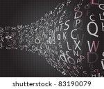 dark perspective letters.... | Shutterstock .eps vector #83190079