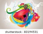 color geometry vector... | Shutterstock .eps vector #83194531