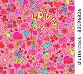 st valentine's seamless pattern.... | Shutterstock .eps vector #83196826